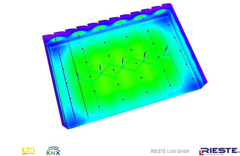 Industriebeleuchtung mit HQI Leuchten (Halogen Metalldampf)