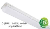 LED Feuchtraum Wannenleuchte DALI dimmbar Notlicht D Kennzeichnug