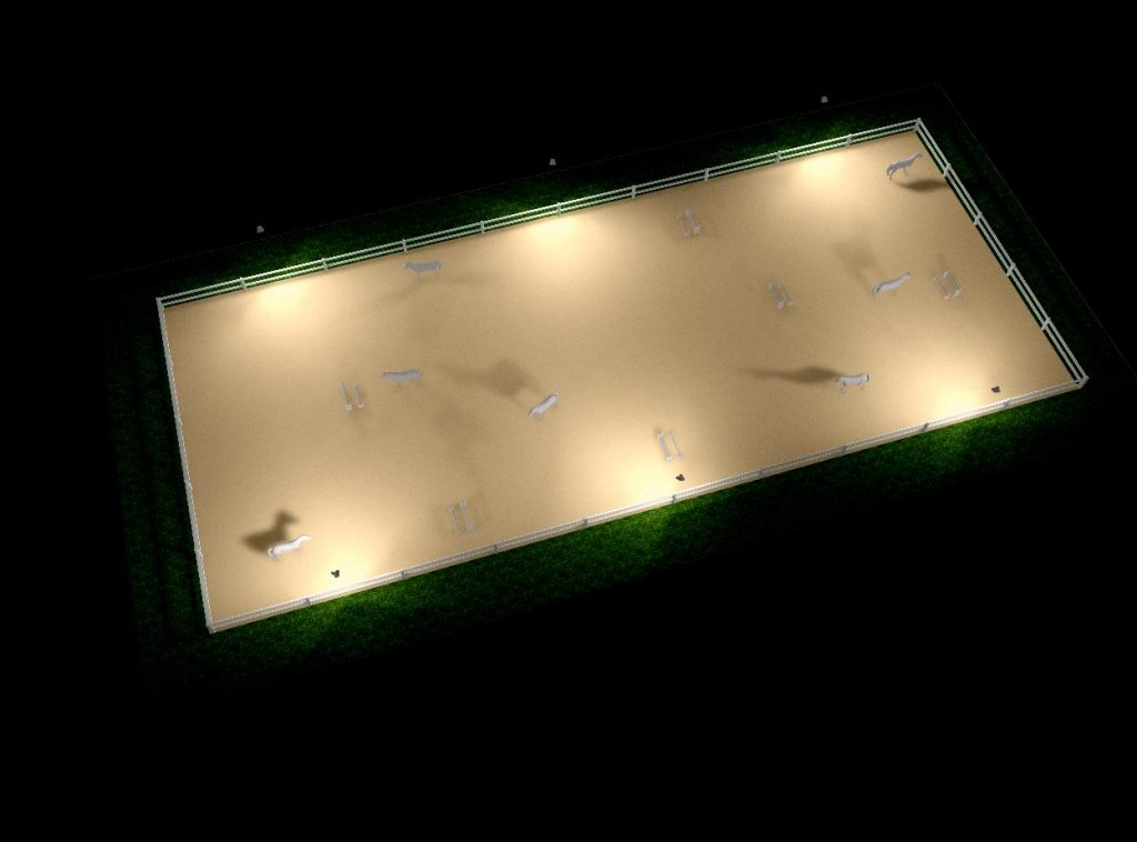 Reitplatz Beleuchtung LED