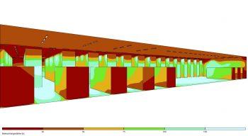 Lichtplanung Industriehalle Helligkeitsverteilung