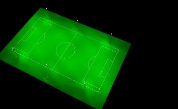 Fußballplatz Beleuchtung mit HQL Leuchten (Quecksilber)