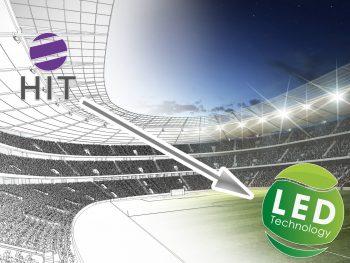 Fußballplatz Umstellung von HQI auf LED