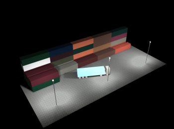 Flutlicht Halogenbeleuchtung