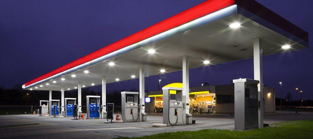 LED Tankstellen Beleuchtung detail