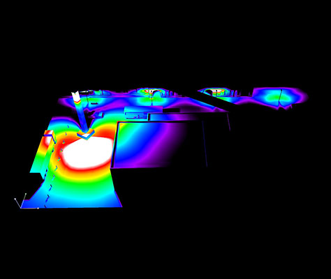 LED Turmdrehkranbeleuchtung Lichtberechnung