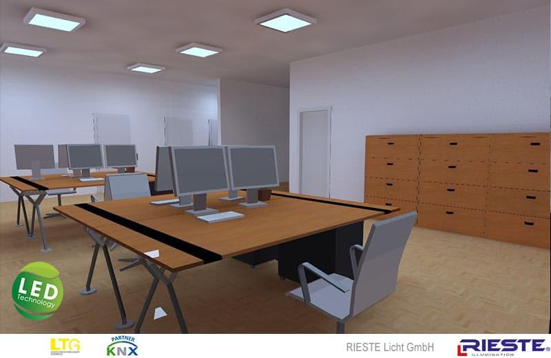 Visualisierung Großraumbüro