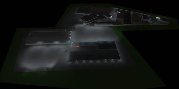 LED Insdustriebeleuchtung der umgerüsteten Anlage