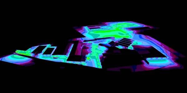 Helligkeitsdarstellung der neuen LED Industriebeleuchtung
