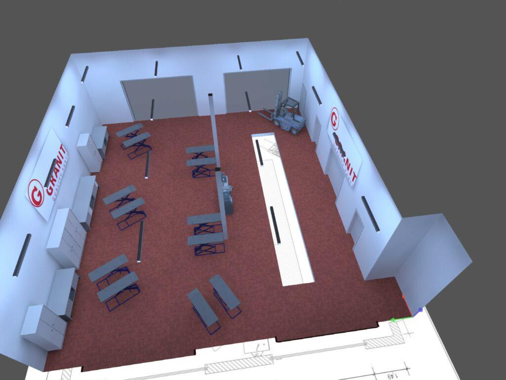 KFZ Werkstatt Licht LED Granit Parts 02