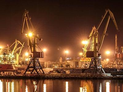 LED Kranbeleuchtung Hafenkran