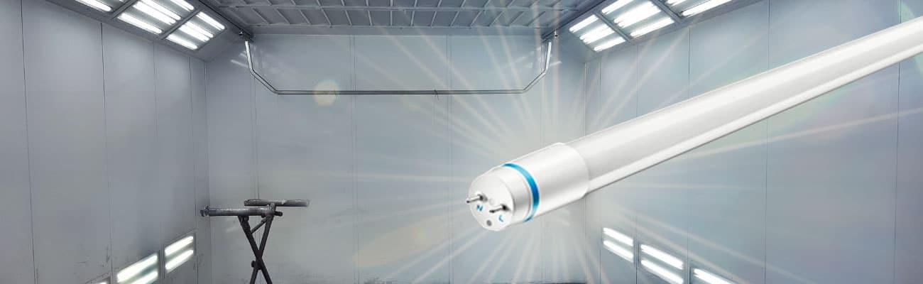Lackierbox auf LED umstellen