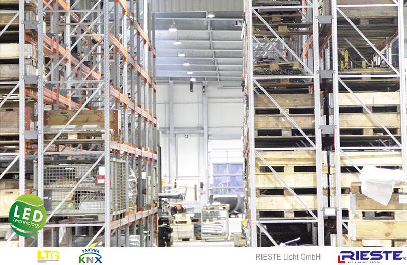 Fertigungs und Lagerhalle Umrüstung auf LED