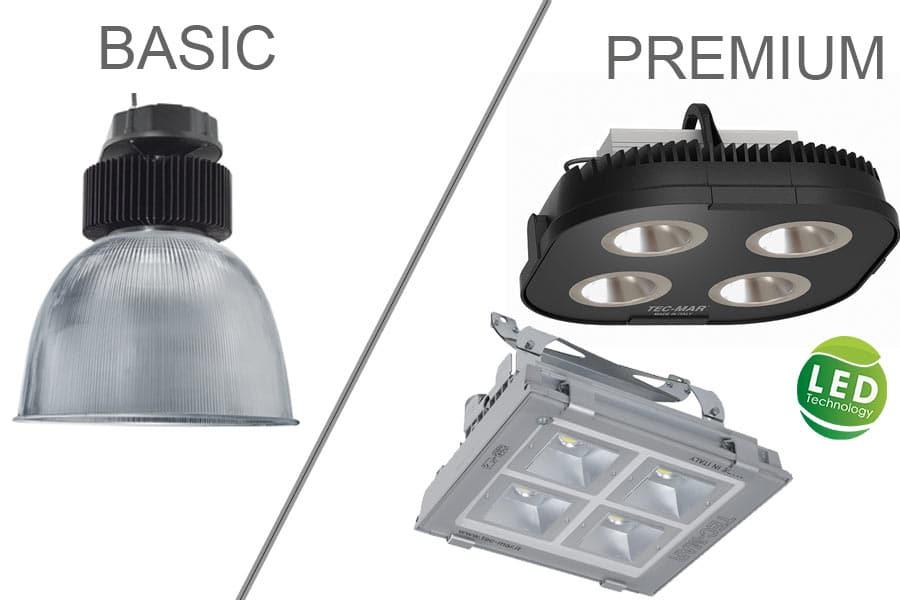 LED Hallenstrahler Basic / Premium
