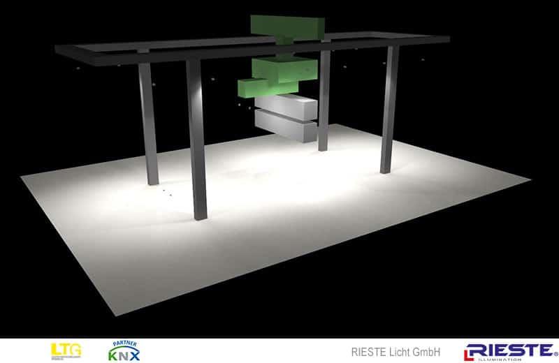 LED Kranbeleuchtung mit speziellen LED Kranleuchten für Portalkran