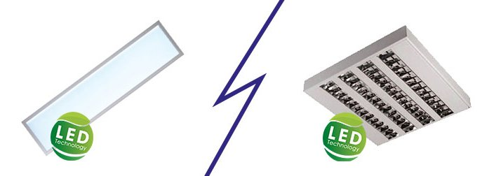 Vergleich LED Panel vs. LED Deckenleuchte