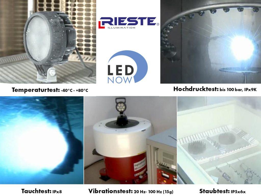 LED Arbeitsscheinwerfer Testverfahren